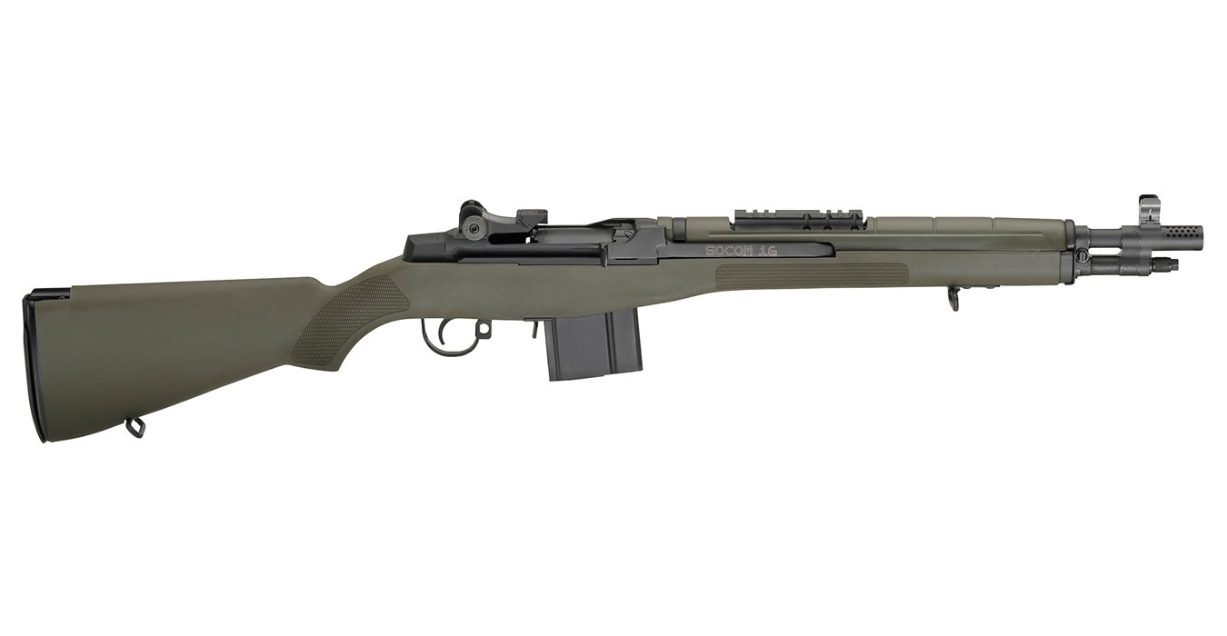 M1A SOCOM-16 308 RIFLE WITH GREEN STOCK