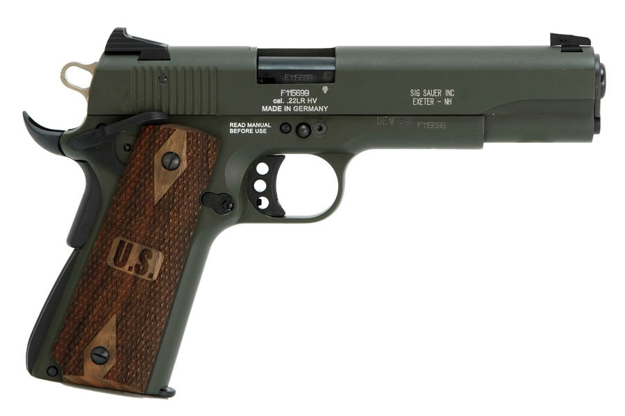 Sig Sauer 1911 22 Olive Drab Green 22lr Rimfire Pistol