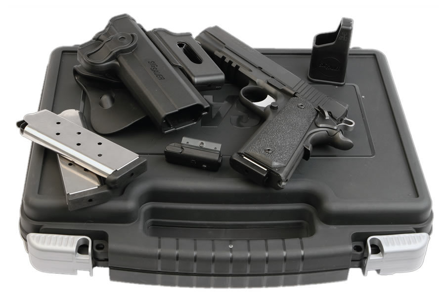 1911 Tactical Package 45 ACP with Laser, Rail and Holster