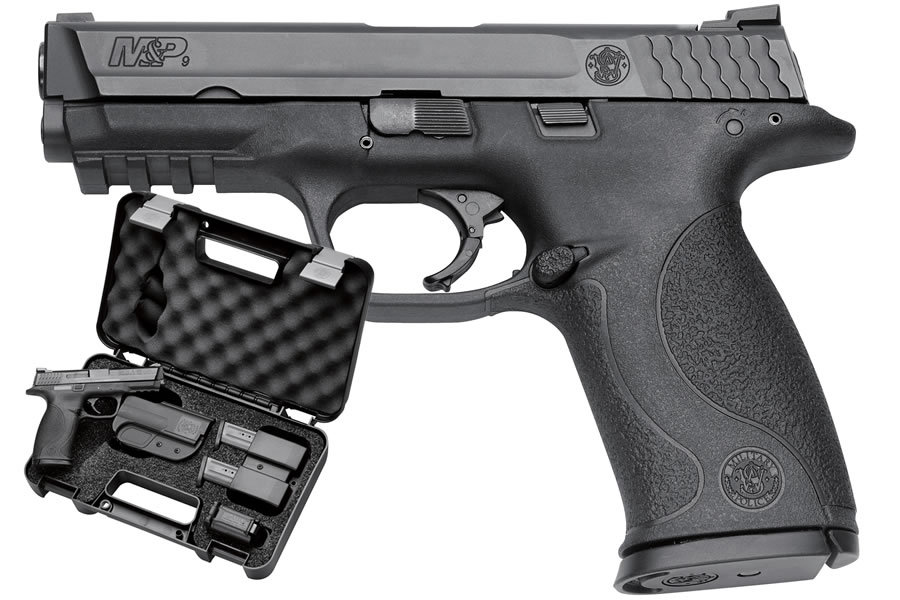 SMITH AND WESSON MP9 9MM FULL SIZE CARRY AND RANGE KIT