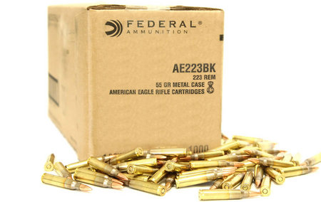 Federal 223 Rem 55 gr FMJ Boat-Tail 1000 Rounds