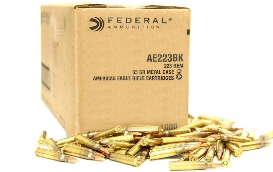 223 REM 55 GR FMJ BOAT-TAIL 1000 ROUNDS