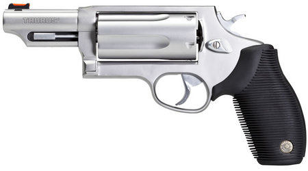 TAURUS Judge 410GA/45LC Stainless Magnum Revolver with 3-inch Barrel
