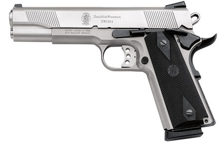 SMITH AND WESSON SW1911 45ACP STAINLESS STEEL PISTOL