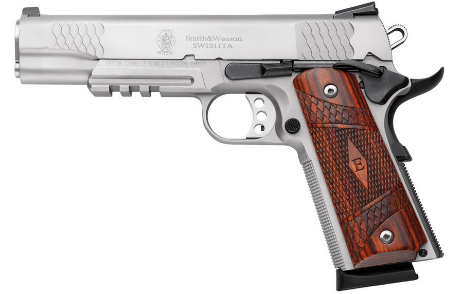 SW1911TA E-SERIES .45 STAINLESS W/ RAIL