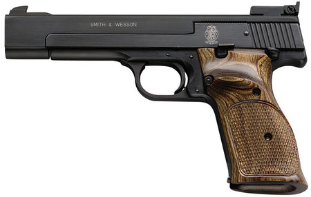 SMITH AND WESSON MODEL 41 22LR WOOD TARGET GRIP 5.5-INCH