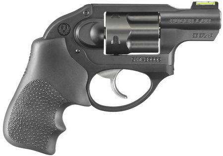 RUGER LCR .38 REVOLVER WITH GREEN FIBER OPTIC