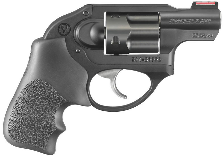 RUGER LCR .38 REVOLVER WITH RED FIBER OPTIC