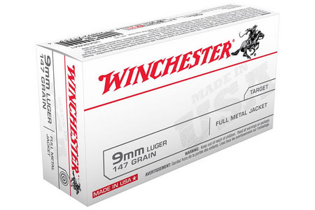 WINCHESTER AMMO 9MM 147 GR FMJ 500 ROUNDS
