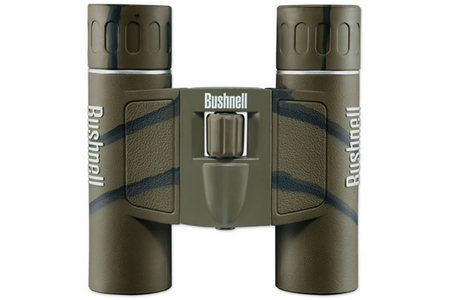BUSHNELL Powerview 12x25mm Camo Binoculars with Carrying Case and Neck Strap