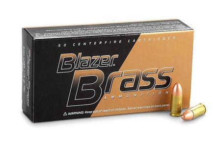CCI 40SW 165 gr FMJ Blazer Brass 50/Box