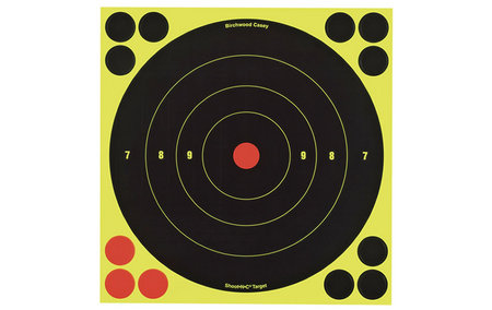 BIRCHWOOD CASEY SHOOT-N-C BULLS-EYE TARGETS 8 IN. 6-PK