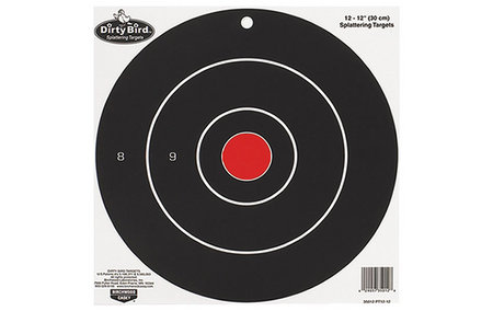 BIRCHWOOD CASEY DIRTY BIRD BULLS-EYE TARGETS 12IN. 12-PK
