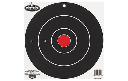 DIRTY BIRD BULLS-EYE TARGETS 8IN. 25-PK