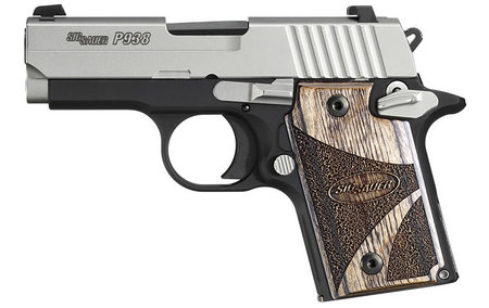 SIG SAUER P938 9MM 2-TONE BLACKWOOD NIGHT SIGHTS