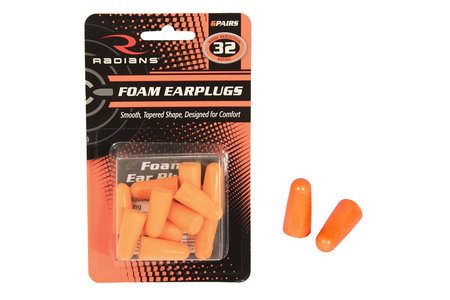 UNCORDED FOAM EARPLUGS 32NRR 6 PAIRS