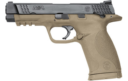 SMITH AND WESSON MP45 45ACP DARK EARTH WITH THUMB SAFETY