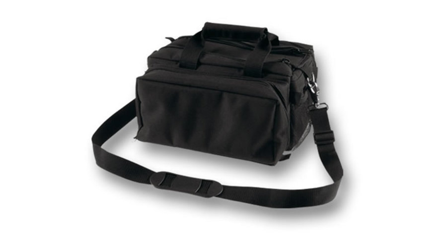 DELUXE BLACK RANGE BAG WITH STRAP