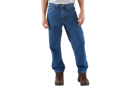 RELAXED FIT WASHED DENIM JEANS