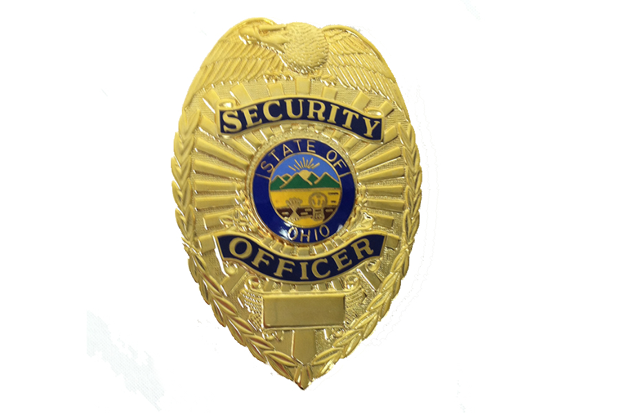 GOLD SECURITY BADGE WITH OHIO SEAL