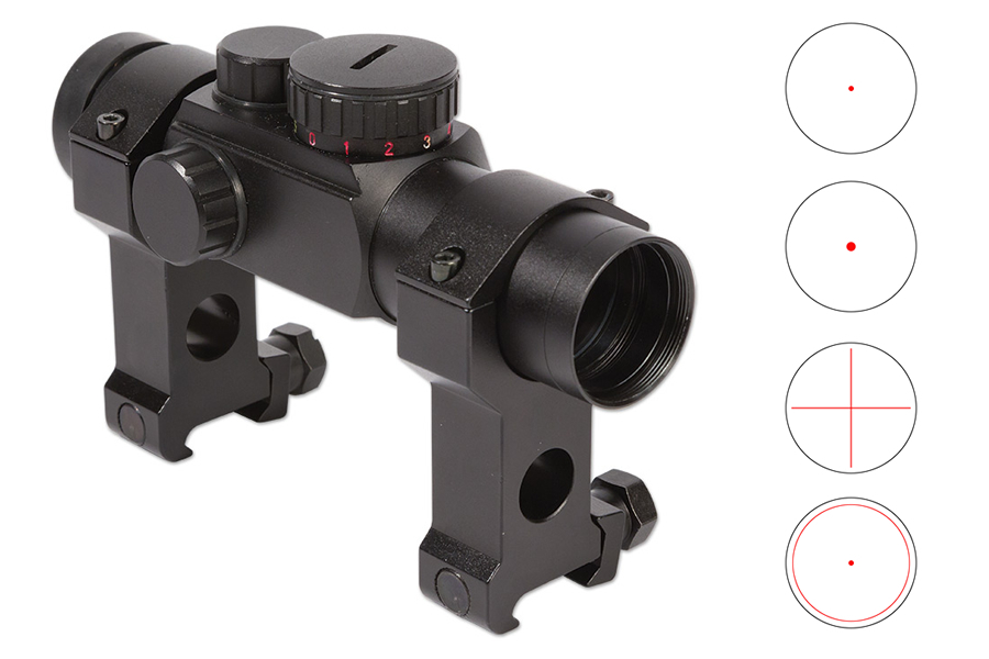 1X28MM MULTI-RETICLE RED DOT AR-OPTIC
