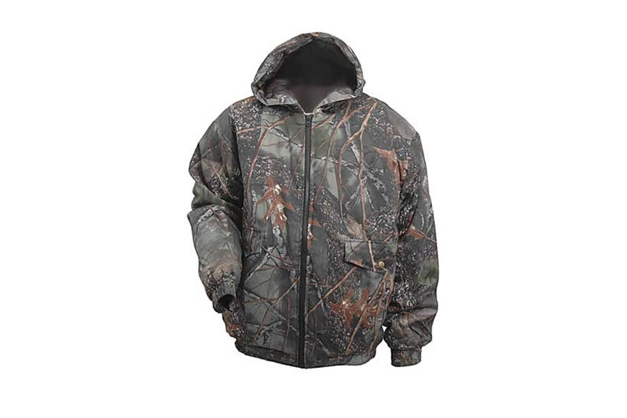 WORLD FAMOU SPORTS CAMO HOODED WATERPROOF INS JACKET