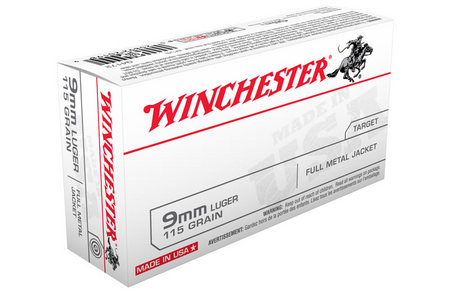 Winchester 9mm Luger 115 gr FMJ 500 Round Case