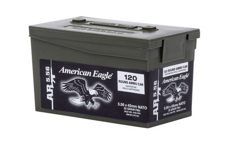 Federal XM193 5.56 55gr 120RD Mini Ammo Can
