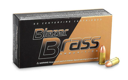 CCI 9mm 124 gr FMJ Blazer Brass 50/Box