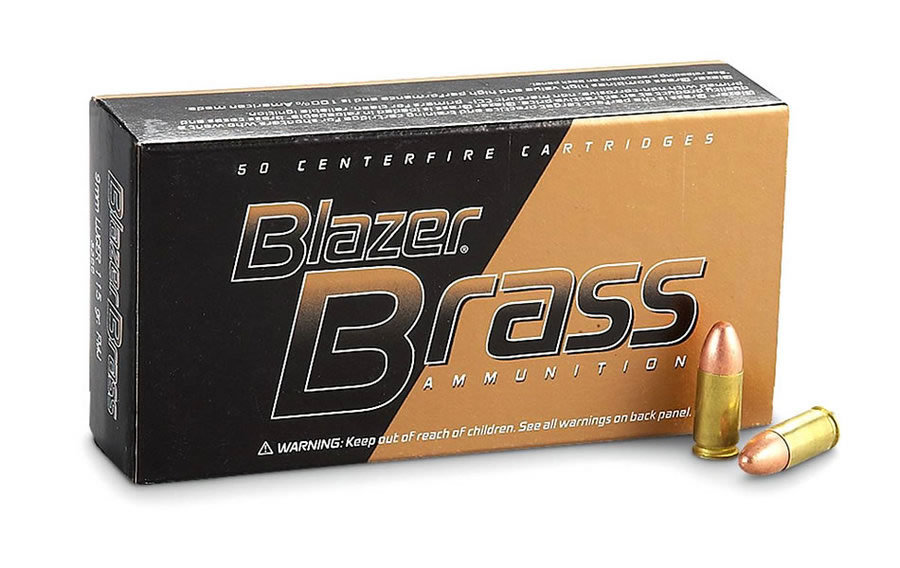 9MM 124 GR FMJ BLAZER BRASS
