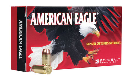 Federal 9mm 147 gr FMJ Flat Point American Eagle 50/Box