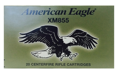 FEDERAL AMMUNITION XM855 5.56MM 62 GR FMJ-BT 500 ROUNDS