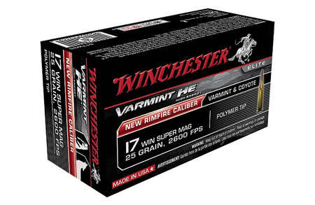 WINCHESTER AMMO 17 WINCHESTER SUPER MAG 25 GR VARMINT HE 50/BOX