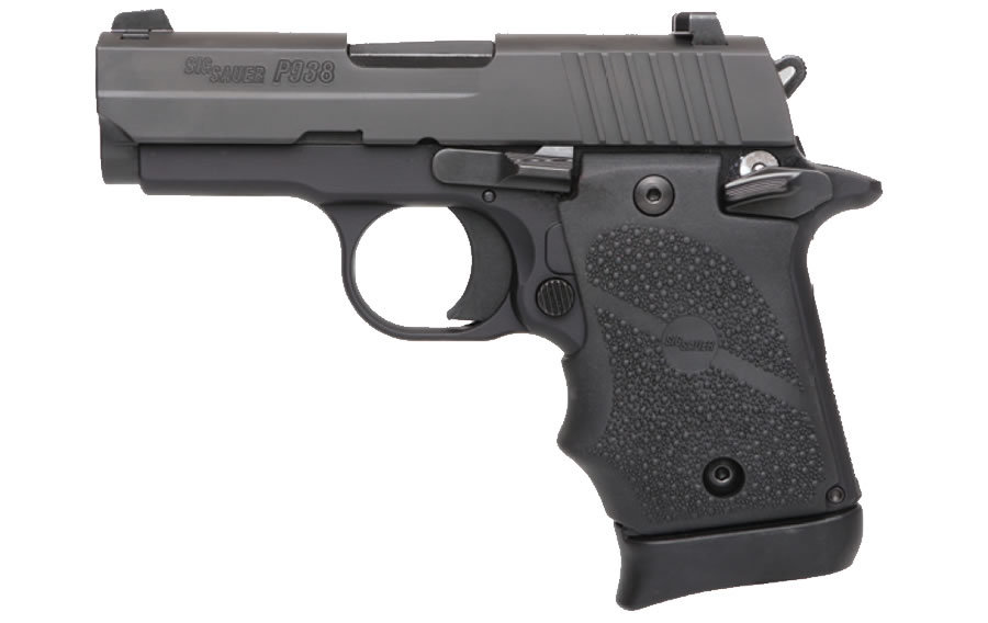 P938 9MM WITH BLACK RUBBER GRIP