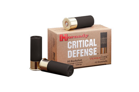 HORNADY 12GA 00 BUCKSHOT CRITICAL DEFENSE 10/BOX