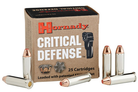 Hornady 38 Special +P 110 gr FTX Critical Defense 25/Box