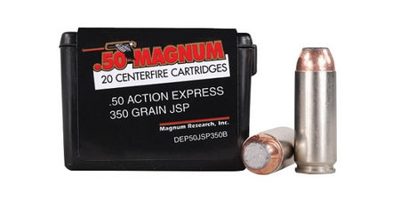 MAGNUM RESEARCH 50 AE 350 Gr JSP Desert Eagle Ammunition