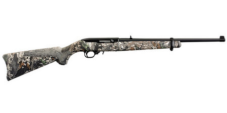 RUGER 10/22 22LR RIFLE W/ MOSSY OAK CAMO STOCK