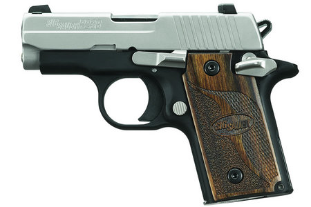 SIG SAUER P238 380ACP WOOD GRIPS W/ NIGHT SIGHTS