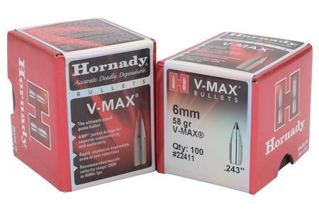 HORNADY 6mm .243 58 gr V-Max 100/Box