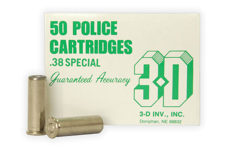 3D INV INC 38 Special 148 Gr Wadcutter Police Trade 50/Box