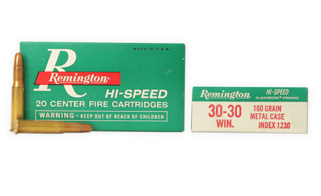 REMINGTON AMMO 30-30 WIN 160 GR VINTAGE AMMUNITION 20/BOX