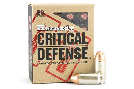HORNADY 45 AUTO 185 GR FTX CRITICAL DEFENSE