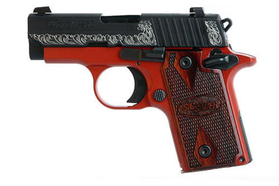 P238 380ACP LADY WITH ROSEWOOD GRIPS