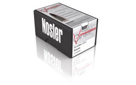 NOSLER 22 CAL .224 55 GR VARMAGEDDON FBHP 500/BOX