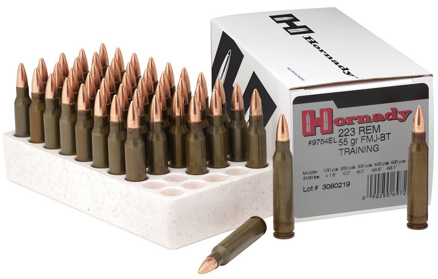 223 REM 55 GR FMJ-BT TRAINING 50/BOX LE