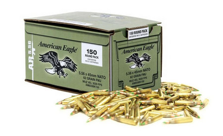 FEDERAL AMMUNITION XM855 5.56mm 62 gr FMJ Ball 150/Box
