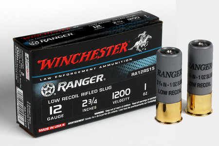 WINCHESTER AMMO 12 GA 2 3/4 RANGER RIFLED SLUG LOW RECOIL LOAD 5/BOX