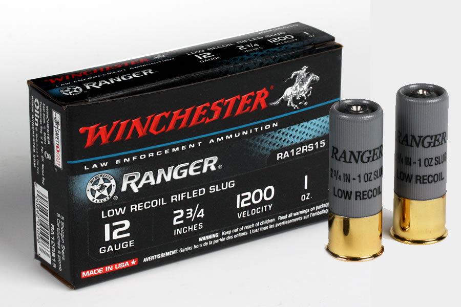 Winchester 12 Ga 2 3 4 Ranger Rifled Slug Low Recoil Load