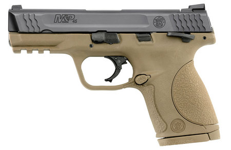 SMITH AND WESSON MP45C 45ACP COMPACT SIZE DARK EARTH